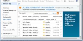 Hotmail integrado en la Barra de tareas