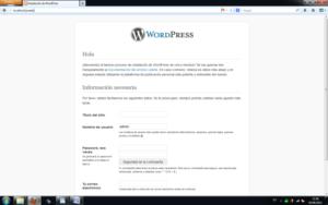 wordpress en local con Xampp