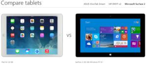 Ipad Air vs. Surface 2