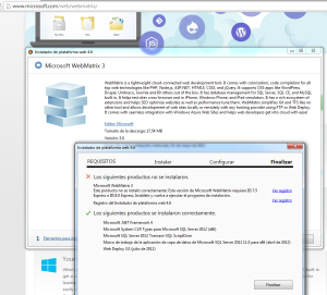 WebMatrix3 Instalar en Windows 7
