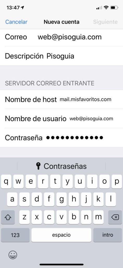 Configurar Correo Iphone X