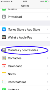 Configurar Mail Iphone 6s -1